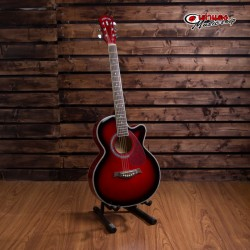 Overspeed 390c Red Acoustic Guitar
