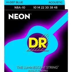 DR Strings Coated Nickel Hi-Def Blue Acoustic Guitar Strings 10-48