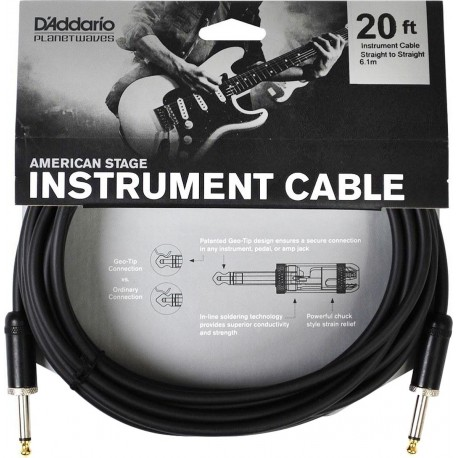 Planet Waves American Stage Instrument Cable 20 feet