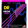 DR Neon Hi-Def Pink K3 Coated Bass String 45-105